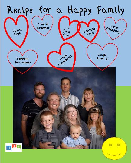 Recipe for a Happy Family Square
